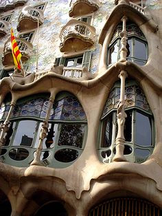 Fachada da Casa Batlló - Barcelona (Gaudi).