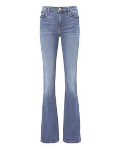 FRAME Le High Flare Blue Jeans. #frame #cloth #jeans