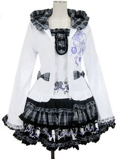 Putumayo Ribbon Cat Triple Frill Skirt Ensemble
