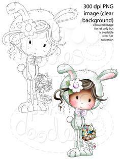 Winnie Sugar Sprinkles Springtime - Happy Easter! - Printable Crafting Digital Stamp Craft Scrapbooking Download - Polkadoodles Ltd