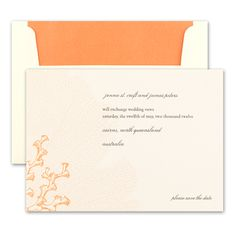 C Bright Orange Sea Botanticals And Cs Serve As A Backdrop For Your Text On These Lightly Textured Cream Save The Date Cards