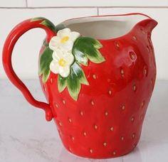 Strawberry Kitchen, Strawberry Summer, Strawberry Fields, Strawberry Shortcake, Modern Wall Decor, Home Wall Decor, Room Decor, Red Kitchen Decor, 50s Kitchen