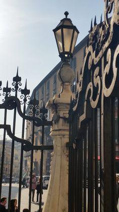 particular , Naples , piazza del Gesu lamp lanterna