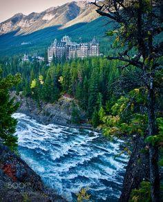 Bow river and Banff springs hotel #2 by SatoruKikuchi