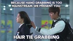Heirs, Cha Eun Sang and Kim Tan. HAHHHAA funny picture
