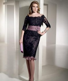 Buy High Quality Dresses from Dress Factory Plus Size Prom Dresses, Nice Dresses, Mother Of The Bride Fashion, Godmother Dress, Lace Evening Gowns, Midi Cocktail Dress, Bride Groom Dress, Lace Dress Black, Custom Dresses