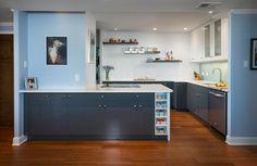 Light and Modern in Downtown Austin - contemporary - kitchen - austin - Jennifer Ott Interior Design