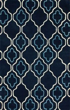 I really like this one.  Dark is good for dirt and stain hiding, but the white and lt blue elements a re enough to keep it feeling light.  Moroccan Trellis