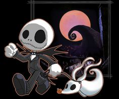 Jack Skellington and Zero - The Nightmare Before Christmas