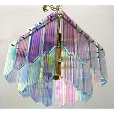 Image of Dichroic Swag Chandelier