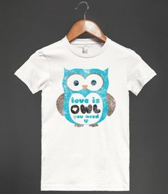 """Are you an owl lover? """"Love is owl you need"""" when you're wearing this print. #beatles #all_you_need_is_love"""