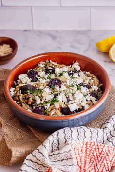 This mushroom orzo recipe is packed with flavour from the sweet roasted beetroot and earthy mushrooms. Serve sprinkled with crumbled feta and chopped dill for a hint of freshness! #thecookreport #mushroomorzo #vegetarian #recipe #veggierecipe Orzo Recipes, Vegetarian Recipes Easy, Cheese Recipes, Veggie Recipes, Healthy Recipes, Fall Dinner Recipes, Stuffed Mushrooms, Stuffed Peppers, Vegetarian Breakfast
