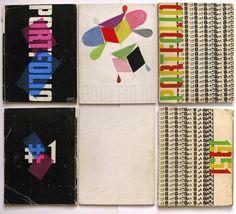 ALEXEY BRODOVITCH (1898-1971)  _1950 Director de arte de la revista de dsñ gráfico PORTFOLIO _introduce solo la TIPOGRAFÍA como imagen de portada (tipog como recurso gráfico).