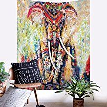 Bohemian Tapestries Elephant Mandala Tapestry Hippie Gypsy Wall Hanging Tapestry Wallpaper for Dorm Decor, Boho Picnic Throw, Beach Towel by ZHH (Vertically, Bohemian Tapestry, Mandala Tapestry, Tapestry Wallpaper, Psychedelic Tapestry, Indian Mandala, Boho Bedding, Tapestry Wall Hanging, Elephant, Hippie Chic