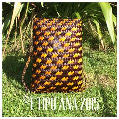 #etipuana_pikau standard L&P pikau Hand woven by julz and em @ E Tipu Ana out of New Zealand harakeke (flax)