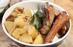 Запеченные свиные ребра с картошкой