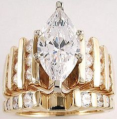 wedding ring set by Babette  I coud wear this...
