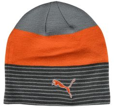 7572a17c7ae Play your golf in warmth and comfort this winter with this stylish womens  stripe fleece lined golf beanie hat by Puma!