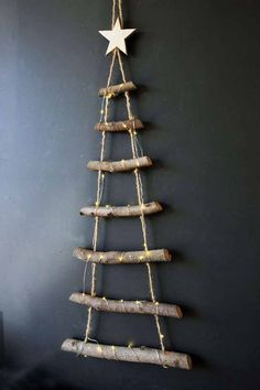 Simple DIY Christmas Tree Decoration Ideas For Christmas Decoration So, let your tree shine in all its brilliance with the Christmas Tree Decorations we made for you. Ladder Christmas Tree, Wooden Christmas Tree Decorations, Driftwood Christmas Tree, Wooden Christmas Trees, Noel Christmas, Rustic Christmas, Christmas Ornaments, Xmas, Simple Christmas