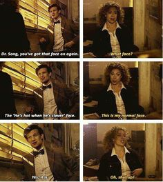 "Eleven and River flirting about ""that face"""