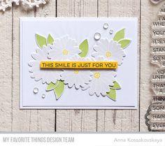 Plentiful petals All smiles  MFT July 2017 Card Kit Reveal Day 2 @akossakovskaya @mftstamps #cardmaking #mftstamps