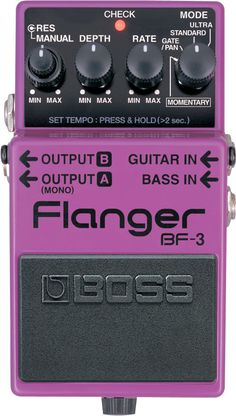 Building on the 20-year legacy of the famous BOSS BF-2, the new BF-3 flanger pedal gives guitarists and bassists an updated version of the classic BOSS flanger with the thickest stereo flanging sounds