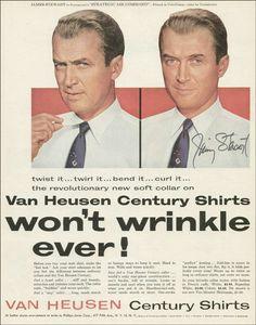 Jimmy Stewart | Van Heusen Shirts