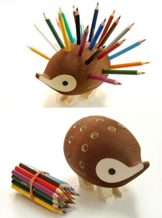 Hedgy the pencil holder.