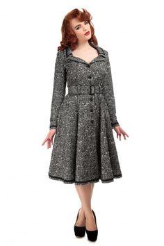 Collectif Vintage Riley Coat - Collectif Vintage from Collectif UK Vintage Coat, Vintage Jacket, Swing Skirt, Dresses For Work, Formal Dresses, Wool Coat, Vintage Inspired, Cold Shoulder Dress, Womens Fashion