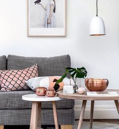 #mymanybagsinteriorsfriday metallics as a design theme. Copper wares matches up perfect with pastels such as salmon pink.  sometimes we just need a bit of bling #interiordecor #interiordesign #homedesign #homeinspirations (Source: Tumblr) by mymanybags http://discoverdmci.com