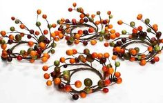 Set of Four Autumn Hues Mixed Berry Candle Rings- Use for Napkin Rings or Small Candle Rings by Inspired by Nature, http://www.amazon.com/dp/B007NYI6VQ/ref=cm_sw_r_pi_dp_q6cysb09XH87N