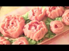 Making and Cutting Peony Cold Process Soap - YouTube