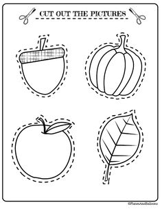 Fall Worksheets for preschool free printables. These are super helpful and cute!