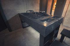 Производственный цех «Пятый камень» —мебель и сантехника из бетона, от сырья до установки под ключ! Concrete washbasin furniture