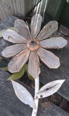 Repurposed Wood Flower Rustic Wall Decor