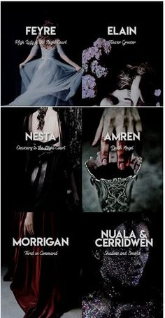 Ladies of Prythian + Titles: The Court of Dreams<br> A Court Of Wings And Ruin, A Court Of Mist And Fury, Unique Names, Cool Names, Book Characters, Female Characters, Female Character Names, Aesthetic Names, Sara J Maas