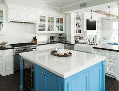 blue kitchen island | SC Homes