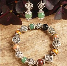 Multiply Color Beaded Jewelry, Bracelet and Earrings, at Creative Irish Gifts.