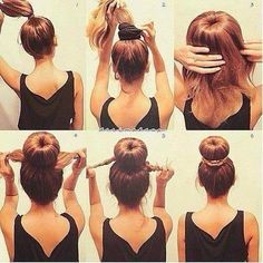 How to create a updo . Very Easy Steps.! :)