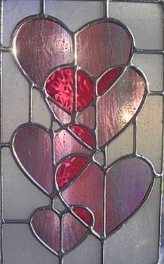 HEARTS~STAINED GLASS HEARTS