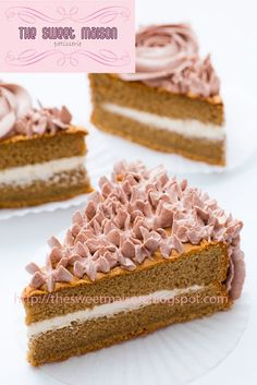 Coffee Sponge Cake with Chocolate Buttercream Coffee Sponge Cake, Coffee Cake, Cupcake Cakes, Cupcakes, Jelly Rolls, Decorating Cakes, Cake Bars, Chocolate Buttercream, Cookie Ideas