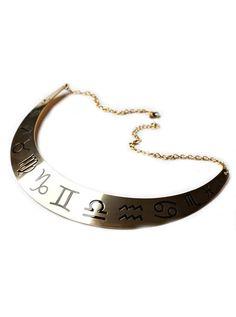 """""""Zodiac"""" Collar By Samii Ryan (Gold) #InkedShop #collar #zodiac #necklace #jewelry"""