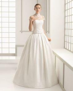 26 - vestido de noiva dasha de rosa clara com saia princesa e corpete em renda com golta