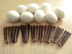 How to make bird and wing parts ◆ ◆ tail of wool felt