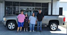 """Say """"Hello!"""" to the Boulers, the new owners of this nice 2007 Chevrolet Silverado, one of our quality pre-owned vehicles. We would like to congratulate them and welcome them to the Butch Oustalet Chevrolet Cadillac family! Veronica, Grace, Katherine, and Isaac are enjoying their new truck and have even named it. The truck is now called Star Brownie! Have you named your vehicle? We know many of you do! What have you named your car, truck, or SUV?"""