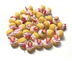 Miniature Sweet  Cup cake  5pcs For Deco Charms by SweetieTiny, $4.99