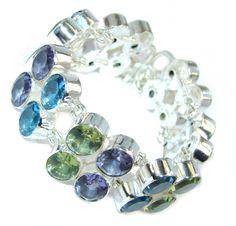$113.95 Stunning++created+Quartz+Sterling+Silver+Bracelet at…