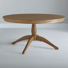Buy Neptune Henley 150cm Round Pedestal Dining Table, Oak Online at johnlewis.com