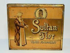 Oriental Sultan Flor Turkish Turkey Ottoman Cigarette Tobacco Tin 1910's