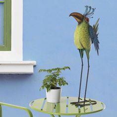 Sunjoy Whimsical Metal Bird Statue